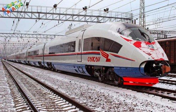 Купить Скоростной поезд Сапсан РЖД игрушечный - Цена! Заказать!