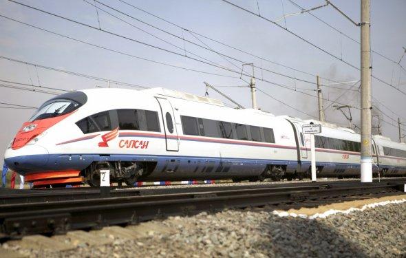 M24.RU - Поезд Сапсан Москва – Петербург остановился из-за