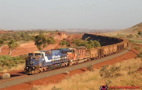 Самый длинный поезд в мире длинной 7,3 километра