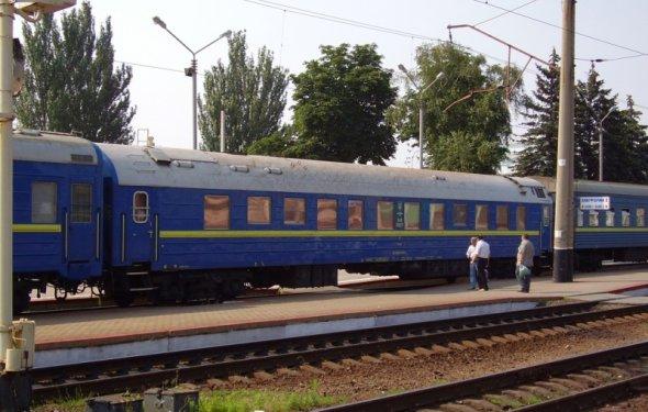 Вагон РИЦ на станции Донецк 5.07.2010г. альбом Вагоны