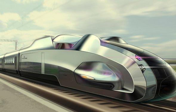 Высокоскоростной поезд Bertone | Студия Иппиарт