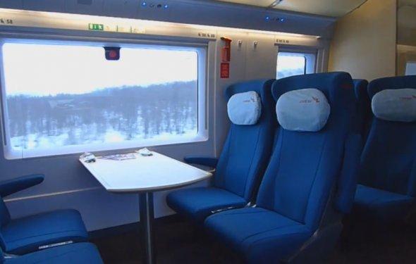 Внутри поезда Сапсан — Туту.ру